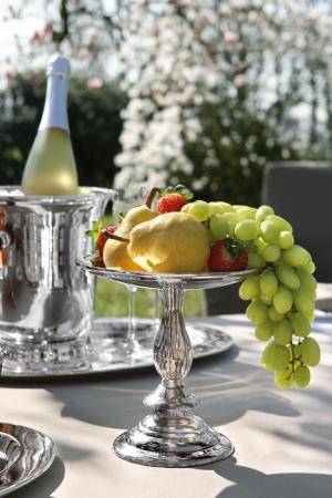 Fructiera VIENNA, placata cu argint, 16x18 cm0
