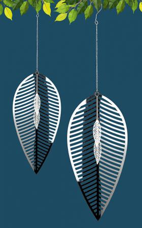 Ghirlanda FOGLIA, metal, 73x20 cm1