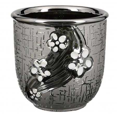Ghiveci Daisy, ceramica, argintiu, 13x13x13 cm1