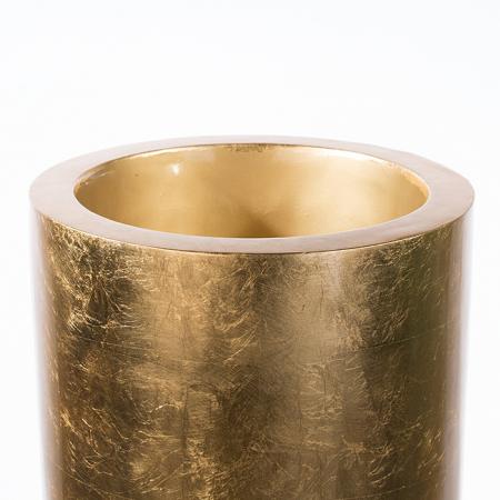 Ghiveci KONUS, compozit, auriu, 115x40 cm2
