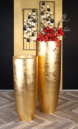 Ghiveci KONUS, compozit, auriu, 92x36 cm5
