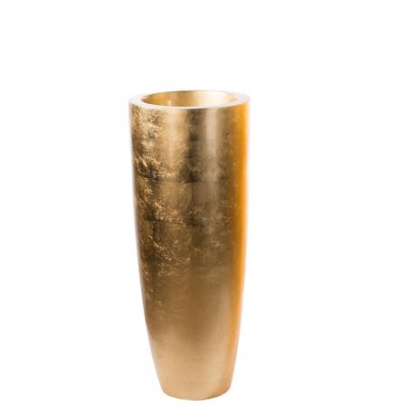 Ghiveci KONUS, compozit, auriu, 92x36 cm0