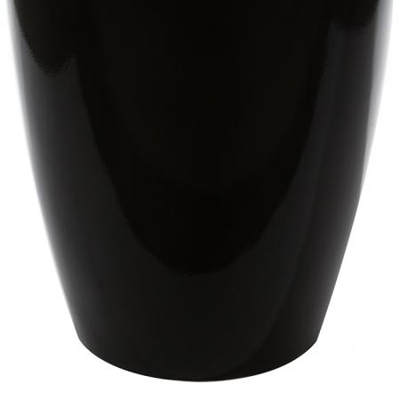 Ghiveci KONUS, compozit, negru, 115x40 cm3