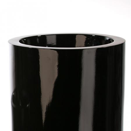 Ghiveci KONUS, compozit, negru, 92x36 cm2