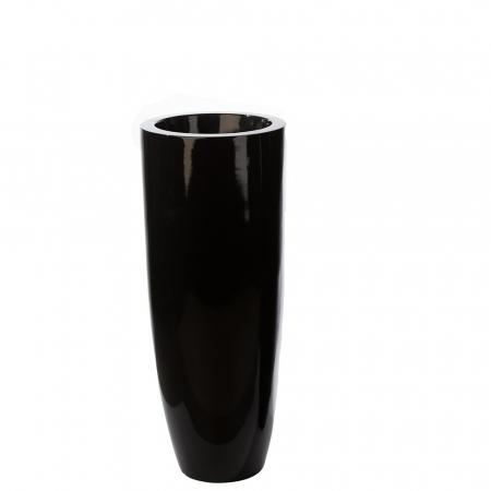 Ghiveci KONUS, compozit, negru, 92x36 cm0