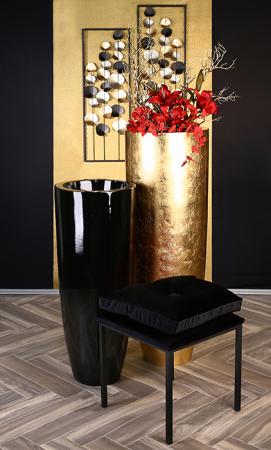 Ghiveci KONUS, compozit, negru, 92x36 cm5