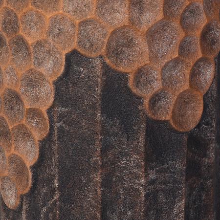 Ghiveci Lava, compozit, maro, 70x33 cm2