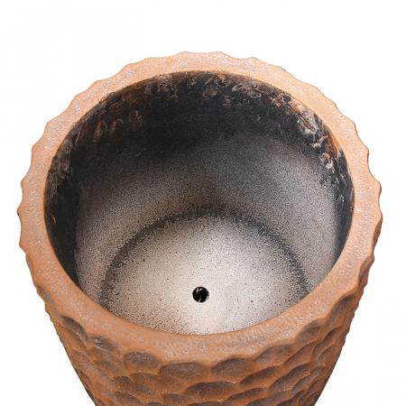 Ghiveci Lava, compozit, maro, 70x33 cm4