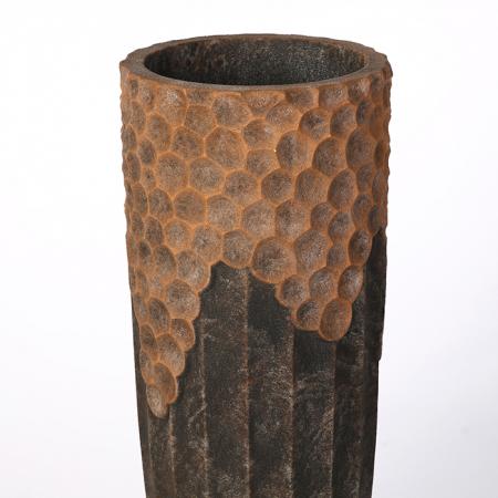 Ghiveci Lava, compozit, maro, 70x33 cm1