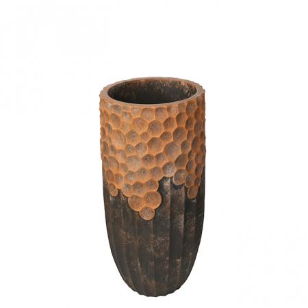 Ghiveci Lava, compozit, maro, 70x33 cm0