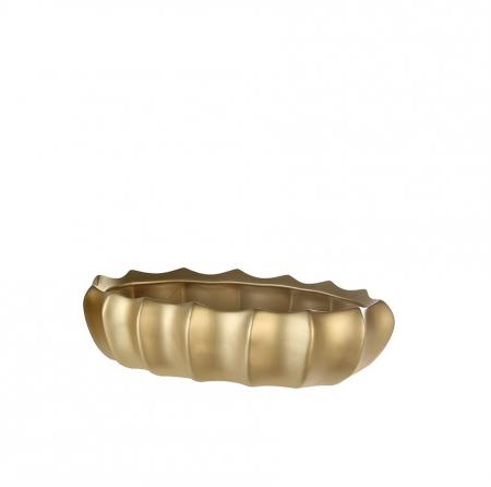Ghiveci oval KAMPA, ceramica, 40x26x10 cm