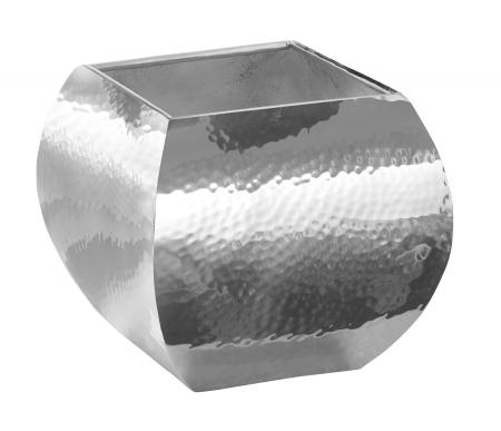 Ghiveci SQUARE, inox, 17x17x17 cm0