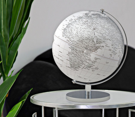 Glob alb/argintiu, CM Ø 25X34, Mauro Ferretti [0]