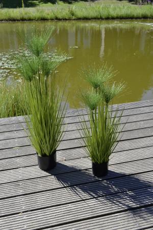 Iarba decorativa la ghiveci Cycas, artificial, verde, 100 cm1