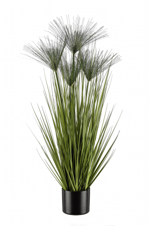 Iarba decorativa la ghiveci Cycas, artificial, verde, 100 cm0
