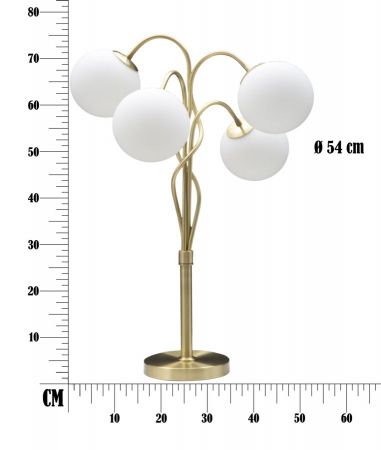 Lampa de masa GLAMY 4 surse (cm) Ø 53X747