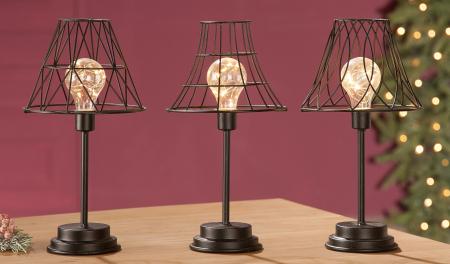 Lampa cu bec LED, metal, 33.5x17.5 cm1
