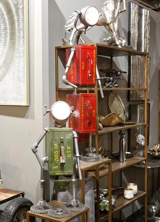 Lampa ROBOT, cu spatiu depozitare, metal, 72x32x22 cm1