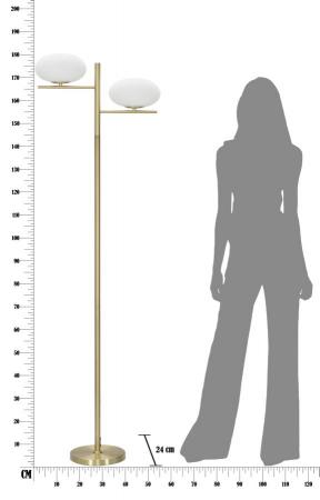 Lampadar   OVAL GLAMY (cm) 51x24x1805