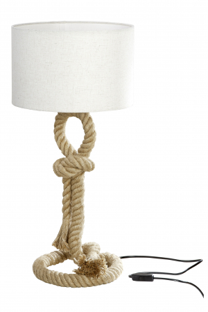 Lampa Rope Design, metal, crem, 62x33 cm1