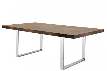 Masa ADAM, lemn eucalipt/inox, 220x100x75 cm, Fink0