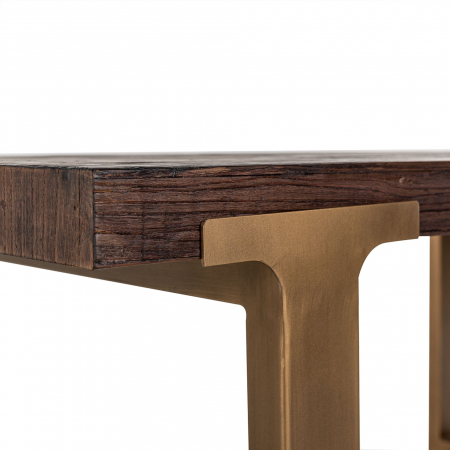Masa Cromford Mill, Lemn/Metal, Maro/Bronz, 76x230x100 cm [5]