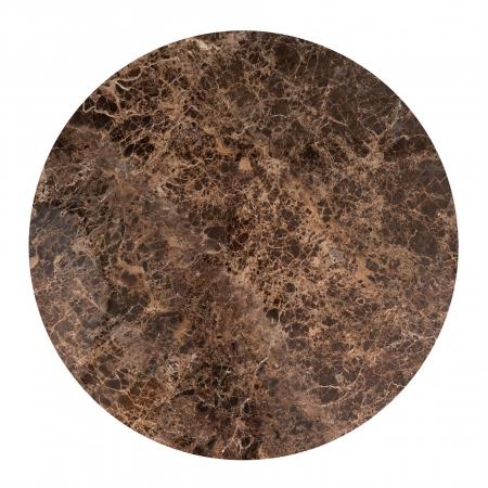 Masa Dalton, Marmura/Fier, Maro/Negru, 76x130x130 cm [1]