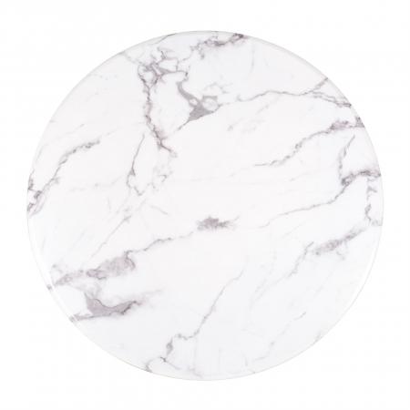 Masa Degas, Marmura/Otel inoxidabil, Alb/Negru, 75x120x120 cm [5]