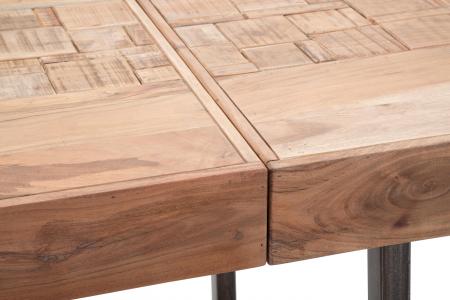 Masa extensibila Mumbai, lemn de acacia/fier, negru/maro, 160/240X80X77 cm8