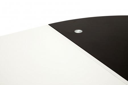 Masa rotunda extensibila, alb/negru, 100X75 cm, Mauro Ferretti6