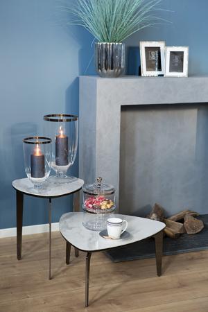 Masuta de cafea KELON, ceramica/otel inoxidabil/nichel, 32 x 62 cm [1]