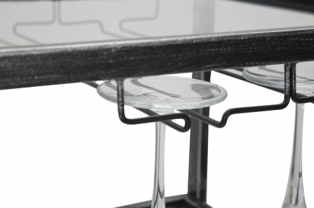 Masuta de servire pe roti GLASS (cm) 95X40X79,57