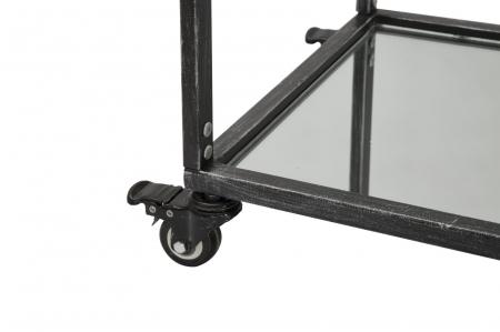 Masuta de servire pe roti GLASS (cm) 95X40X79,55