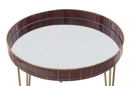 Masuta GLAM BORDEAUX (cm) Ø 60X602