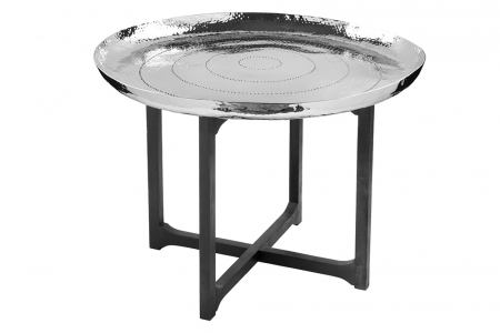 Masuta MESETA, aluminiu/nichel/otel, 75x55 cm, Fink0