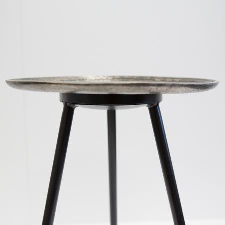 Masuta rotunda ORBA, aluminiu/nichel, 55x40 cm3