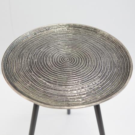 Masuta rotunda ORBA, aluminiu/nichel, 55x40 cm1