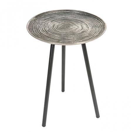 Masuta rotunda ORBA, aluminiu/nichel, 55x40 cm0
