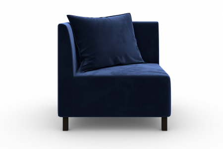 Modul de colt Tina, Albastru petrol, 88x82x88 cm2