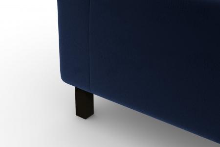 Modul de colt Tina, Albastru petrol, 88x82x88 cm6