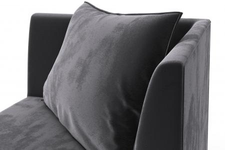 Modul de colt Tina, Gri inchis, 88x82x88 cm5
