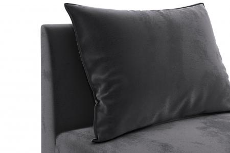 Modul de mijloc Tina, Gri inchis, 105x82x88 cm4