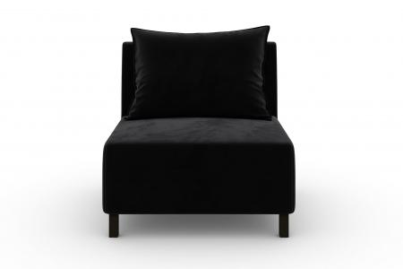 Modul de mijloc Tina, Negru, 105x82x88 cm1