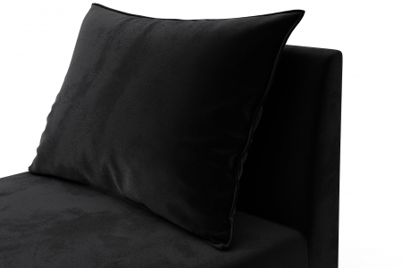 Modul de mijloc Tina, Negru, 105x82x88 cm5