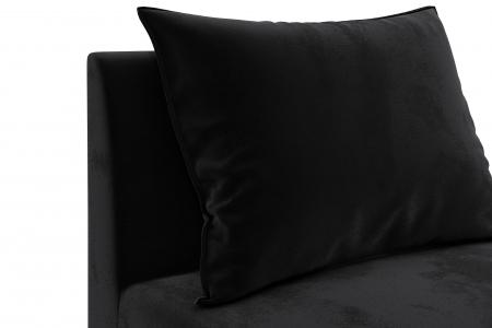 Modul de mijloc Tina, Negru, 105x82x88 cm4