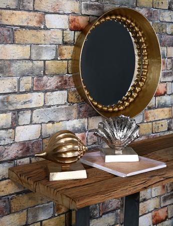 Oglinda CHAIN, metal, 70x9 cm3