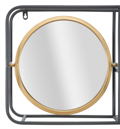Oglinda rotunda cu rafturi INDUSTRY CM 74,5X12X35, Mauro Ferretti4