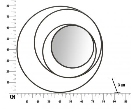 Oglinda DARK (cm) Ø 80X36
