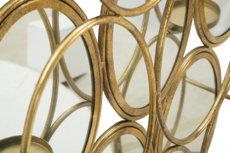 Oglinda de perete cu Suport lumanare GLAM, 54X10X118 cm, Mauro Ferretti5