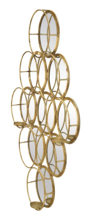 Oglinda de perete cu Suport lumanare GLAM, 54X10X118 cm, Mauro Ferretti2